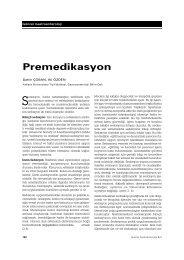 Premedikasyon - Güncel Gastroenteroloji