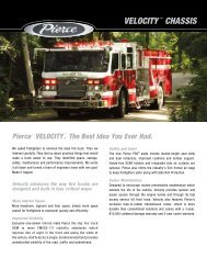 VELOCITY ™ CHASSIS - Pierce Manufacturing