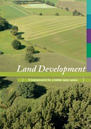 Land Development - 5 instruments for a better open space