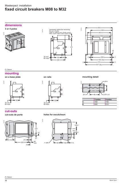 fixed circuit diagram fixed circuit breakers m08 to m32  fixed circuit breakers m08 to m32