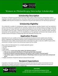 Scholarship Description Scholarship Eligibility ... - Ohio University
