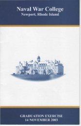 PROGRAM - US Naval War College