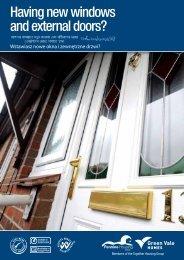 Having new windows and external doors? - Pennine Housing 2000