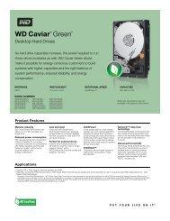 WD Caviar Green Series Disti Spec Sheet - Xander