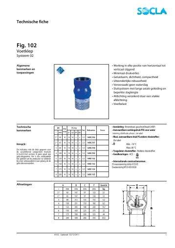 Technische fiche Fig. 102 - SOCLA