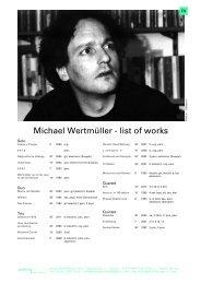 Werkliste Michael Wertmüller (pdf) - soniq performing arts