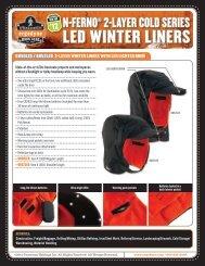 LED Winter Liners Sell Sheet - Ergodyne
