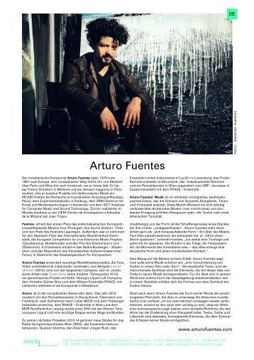 Mehr über Arturo Fuentes (pdf, D/EN) - soniq performing arts
