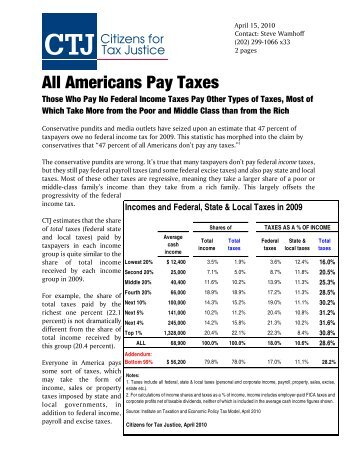 All Americans Pay Taxes - Citizens for Tax Justice