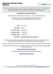Orphanet Journal of Rare Diseases - Malattie metaboliche.it