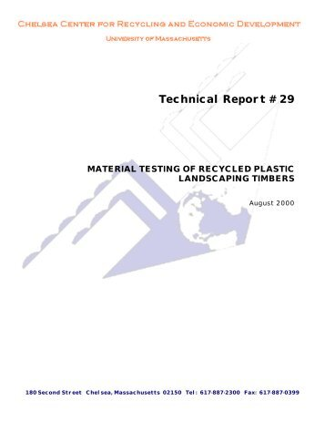 Technical Report # 29 - Chelsea Center for Recycling and Economic ...