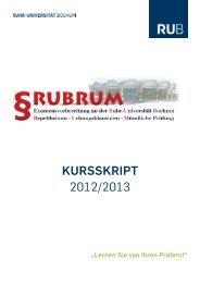 KurssKript 2012/2013 - Ruhr-Universität Bochum