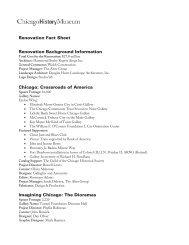 Renovation Fact Sheet - Chicago History Museum