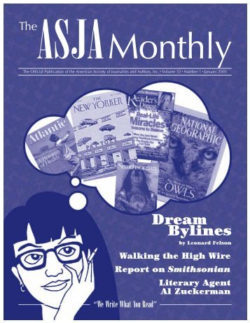 January 2003 - The ASJA Monthly