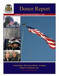 Donor Report - USMMA Alumni Association and Foundation