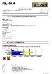 Chemwatch Australian MSDS 32-2491 - FUJIFILM Australia