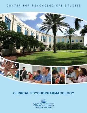 CLINICAL PSYCHOPHArmACOLOgY - Center for Psychological ...