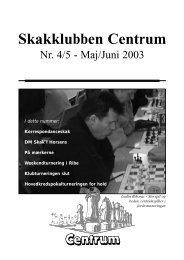 Klubblad nr. 4-5/2003 - Skakklubben Centrum