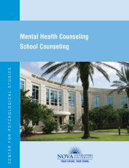 Mental Health Counseling School Counseling - Center for ...