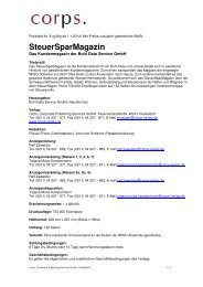 Steuersparmagazin 2014 - corps. Corporate Publishing Services
