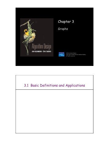 Chapter 3 3.1 Basic Definitions and Applications