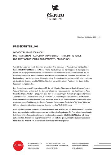 PRESSEMITTEILUNG - Film Polska