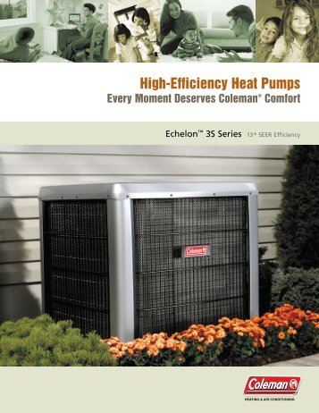 Coleman Echelon 3S Series 13+ SEER Heat Pumps from Coleman ...