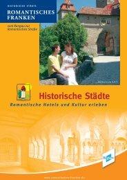 HISTORISCHE STÄDTE - Romantisches Franken