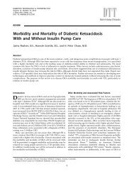 Morbidity and Mortality of Diabetic Ketoacidosis With and Without ...
