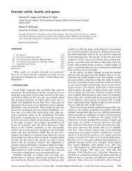 Granular solids, liquids, and gases - James Franck Institute ...