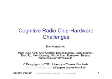 Cognitive Radio Chip-Hardware Challenges - Hardware Conference