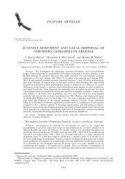 Juvenile movement and natal dispersal of Northern - BioOne