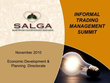 INFORMAL TRADING MANAGEMENT SUMMIT