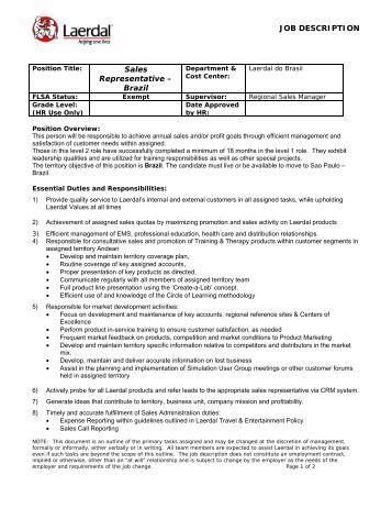 """job description territory sales managerjob description sales representative â€Â"""" brazil"""