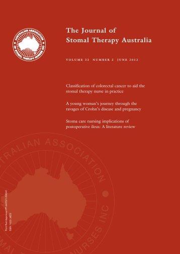 JSTA June 2012 - Australian Association of Stomal Therapy Nurses