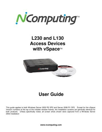 L230 and L130 Access Devices with vSpaceTM User Guide