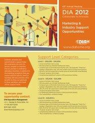 Marketing & Industry Support Opportunities - J. Spargo & Associates
