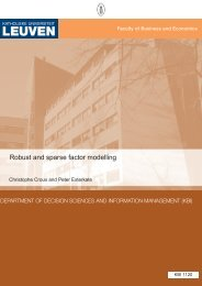 Robust and Sparse Factor Modelling - Lirias - KU Leuven