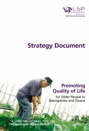 Older Persons Strategy - Basingstoke and Deane Borough Council