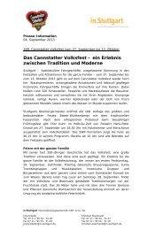 zwischen Tradition und Moderne - Cannstatter Wasen
