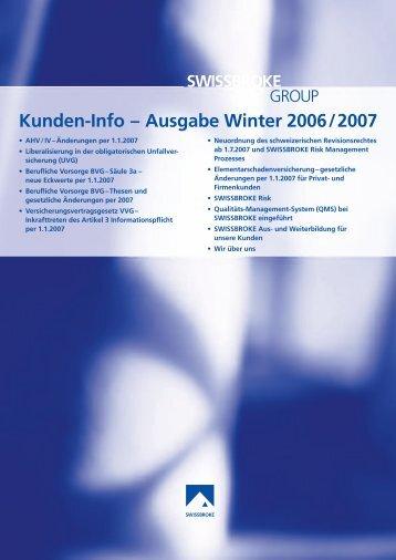 Ausgabe Winter 2006/2007 - swissbroke