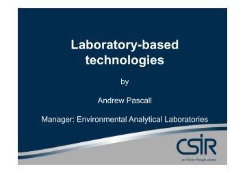 Lab-based technologies for enviro analysis - CSIR