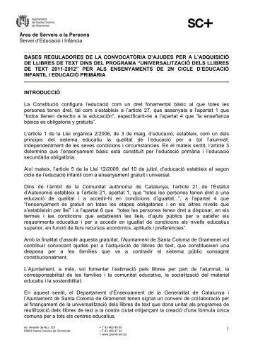 Bases llibres Primària 11-12 Ple 2 maig - Ajuntament de Santa ...
