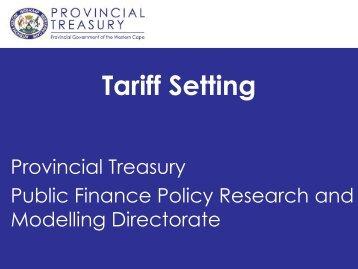 Tariff Setting