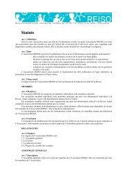 statuts de REISO en pdf