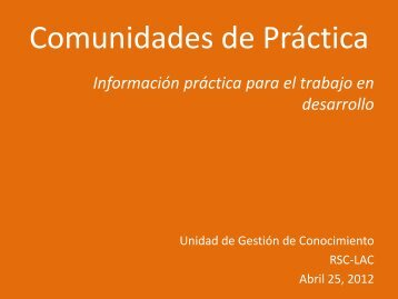GUIA COMUNIDADES DE PRACTICA - Regionalcentrelac-undp.org