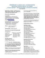 BIRKENHOF CLASSIC 2010 • SCHWAIKHEIM ... - Western Journal