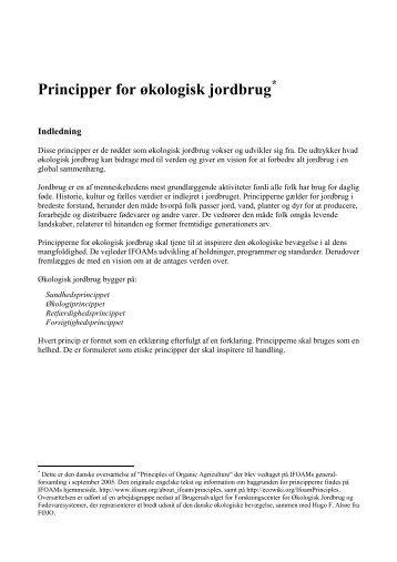 Principper for økologisk jordbrug