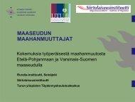 Sami Tantarimäki Maaseudun maahanmuuttajat - Maaseutupolitiikka