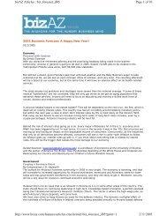Page 1 of 10 bizAZ Articles : biz_forecast_jf05 2/11/2005 http://www ...